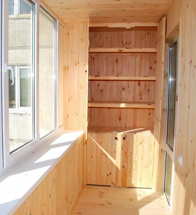 Как сделать шкаф на балконе, красивый, прямой, угловой, из вагонки