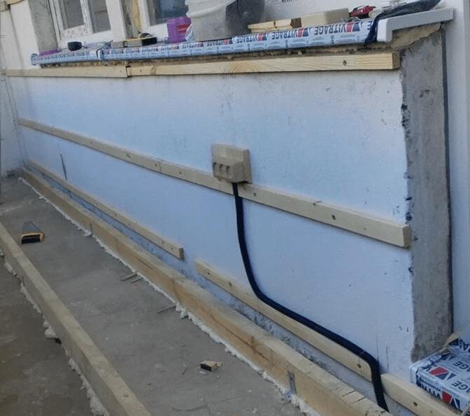 Подводка освещения и розетки