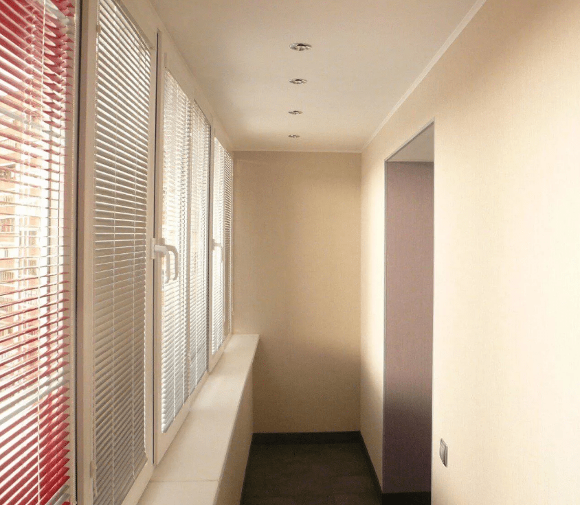 Гипсокартон на балконе