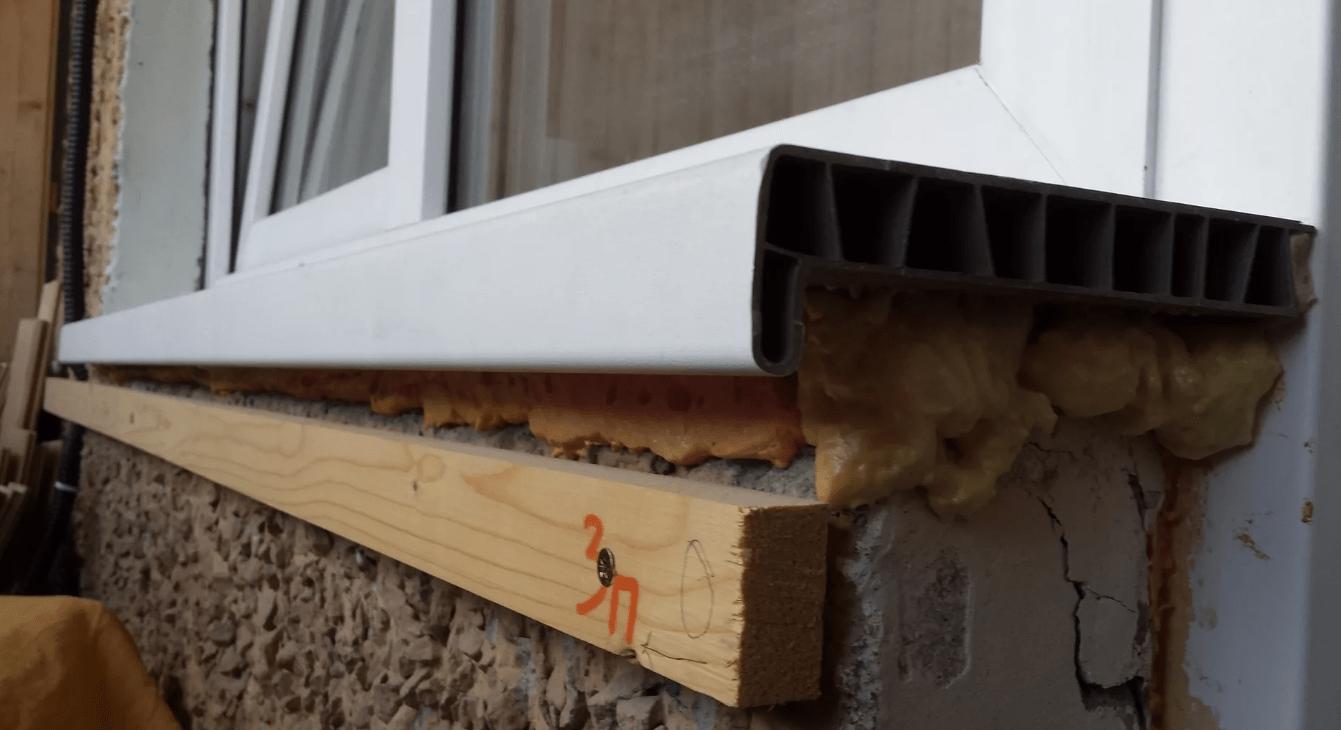 Как установить и закрепить подоконник на балконе своими руками