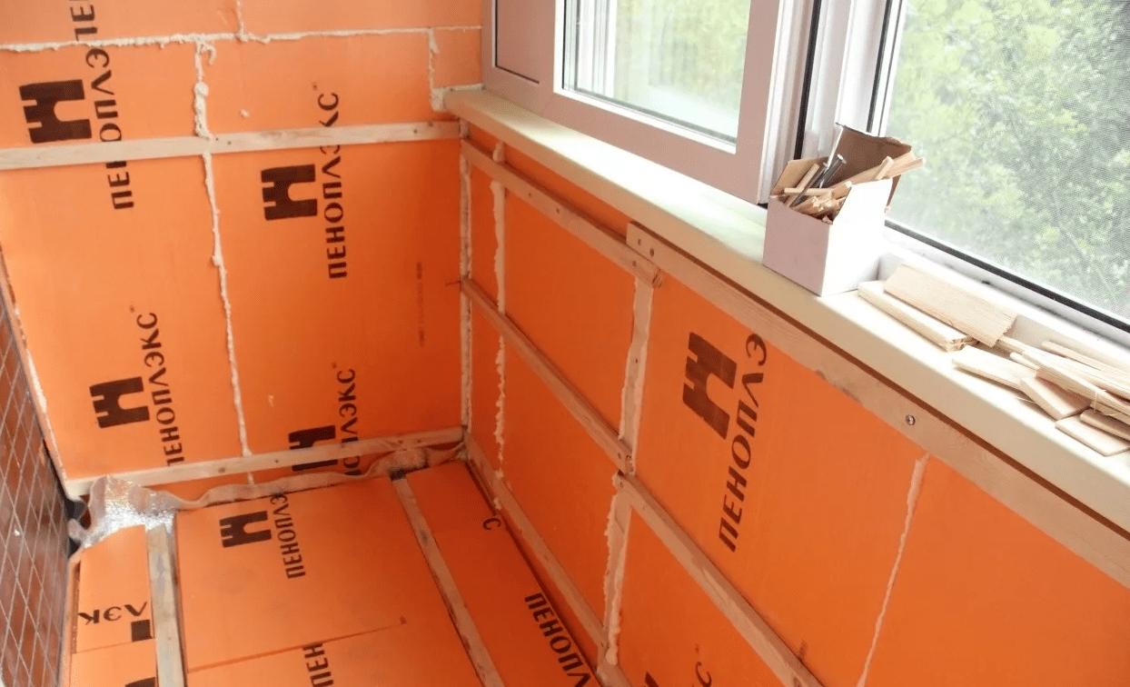 Утепление балкона пеноплексом, своими руками, пошаговая инструкция