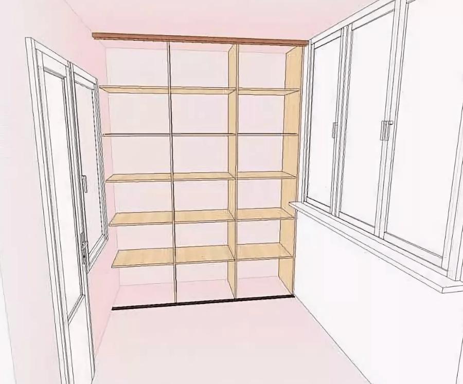 Полки на балконе. Как сделать полки своими руками