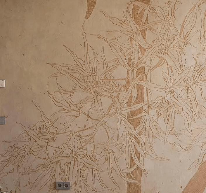 Техника сграффито для декоративной штукатурки
