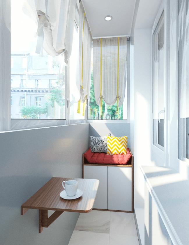 Дизайн и отделка балкона в хрущевке: варианты, выбор материалов и мебели